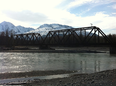 An old railroad bridge just outside of Seward, AK.