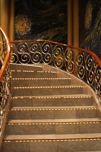 Staircase in the Showroom at Sea.