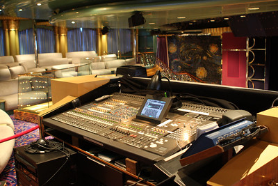 Of course, Gary had to take a picture of the sound board.
