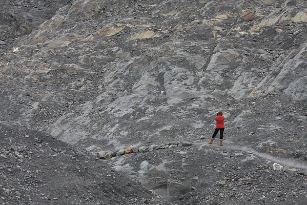 The hike to Exit Glacier in Seward looks more like another planet!