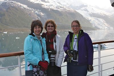 On deck Pat Dillard, Carol Cox & Melissa Dillard in College Fjord.