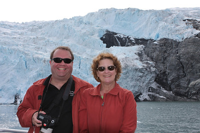 Gary and I in front of a very active glacier in Kenai Fjord National Park, Seward, AK.