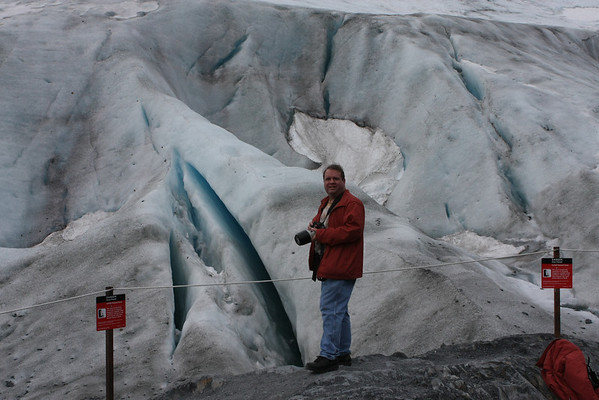 Exit Glacier so close you can reach out and touch it.