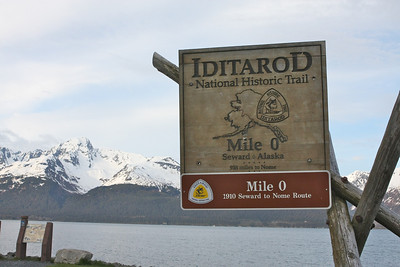 Starting point of the Iditarod in Seward, Alaska.