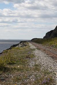 Alaska Railroad between Anchorage and Seward.