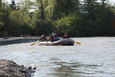 One of three rafts in our excursion.  This one followed ours.