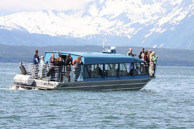 This is one of the whale watching vessels in Juneau, AK.