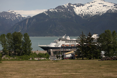 Our ship, the ms Standendam, from the town of Haines, AK.