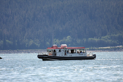 This is the type of vessel we boarded for our Photo Safari by Land and Sea, Juneau, AK.
