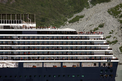 We were really close to our sister ship as we passed at Marjorie Glacier, Glacier Bay National Park.