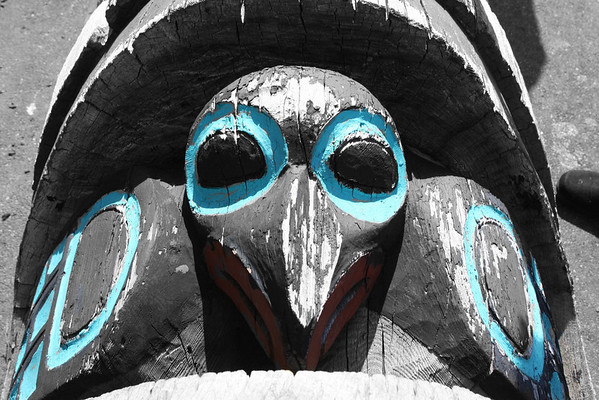 Part of a totem in Haines, AK.