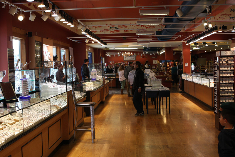 Inside one of the stores in Ketchikan