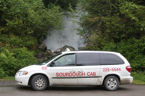 Sourdough Cab at Bridal Falls south of Herring Cove on S. Tongass Highway - Ketchikan Alaska.