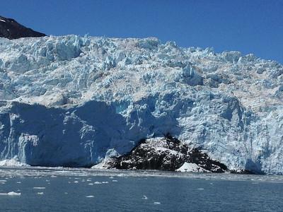 One of many glaciers outside of Seward, Alaska