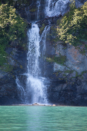 Waterfall in Prince William Sound