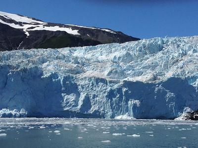 One of the many glaciers outside of Seward Alaska