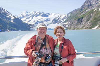 Carol and I at Surprise Glacier near Whittier Alaska.