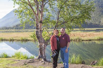 Gary and I at Tern Lake.