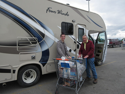 The next morning, after our orientation at Great Alaskan Holidays on how to drive and care for the RV we had rented, we were off to do some grocery shopping.  Walmart, Costco, and Fred Meyers fulfilled our needs.