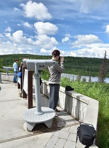 Jaden taking photos from an overlook south of Denali Nat'l Park.
