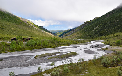 Anyone can drive as far at the Savage River (pictured), but to go further into the interior, you have to have a reserved campsite at Teklanika Campground.  Note that we have hiked down along the left side of the river and the hiking is quite nice.