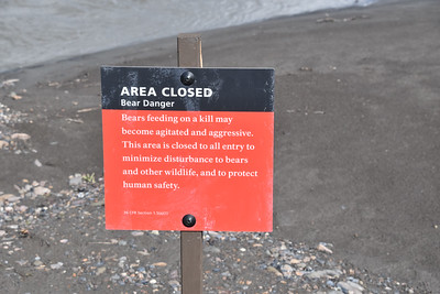 While we had planned to walk downstream along the east side of the river, the Park Service had closed the entire river downstream of these signs.