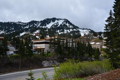 Stevens Pass on US 2, and the ski area (off season).