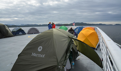 """8 am in """"tent city."""""""
