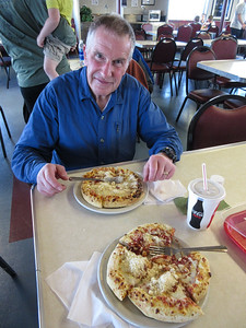 Of course, Friday night is Pizza night, no matter where we are.  This time we had to wash it down with diet Coke. But the pizza was fresh made in the Malaspina's cafeteria.  The dough was excellent.