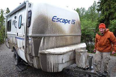 Yeah, our trailer got really muddy.