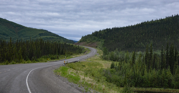 One of the few road shots of the day.  The road between Tok and Destruction Bay (228 miles) is probably the in the worst condition of anything on the Alaska Hwy.  Sometimes we slowed to 25 mph.