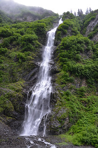Leaving Valdez, as Susie says:  Everywhere has GOT to have a Bridal Veil Falls.  So this is it.