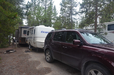 At the Hi Country RV Park in Whitehorse, yes, they have trees, but the RVs can be packed in pretty tightly.