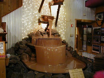 Not every city can boast a chocolate fall.  This one at Alaska Wild Berry Products circulates some 3400 lbs. of liquid chocolate over the 20' height.