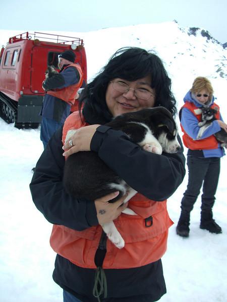 Karen Puppy sooo happy Skagway