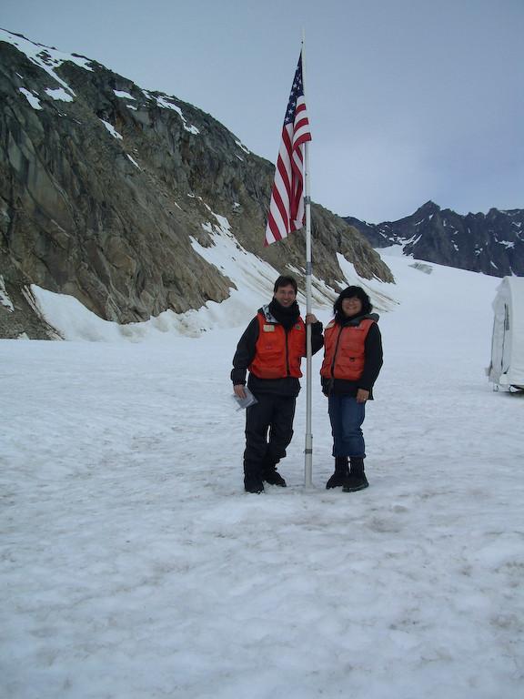 Andy Karen Skagway Denver glacier Flag