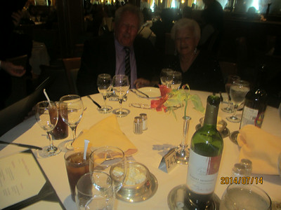 Alaska Cruise Dinner Group July 2014