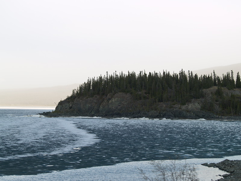 More ice on Kluane Lake.