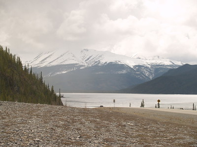 Muncho Lake - despite the clouds, it wasn't terribly chilly on this travel day.