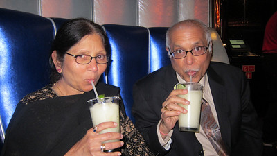 Mom & Dad at da club!  With their favorite drink - frozen margaritas