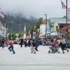 Fourth of July Parade, Petersburg, Alaska - running to beat the parade