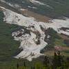 Remains of an avalanche, Chugach Mountains, Alaska