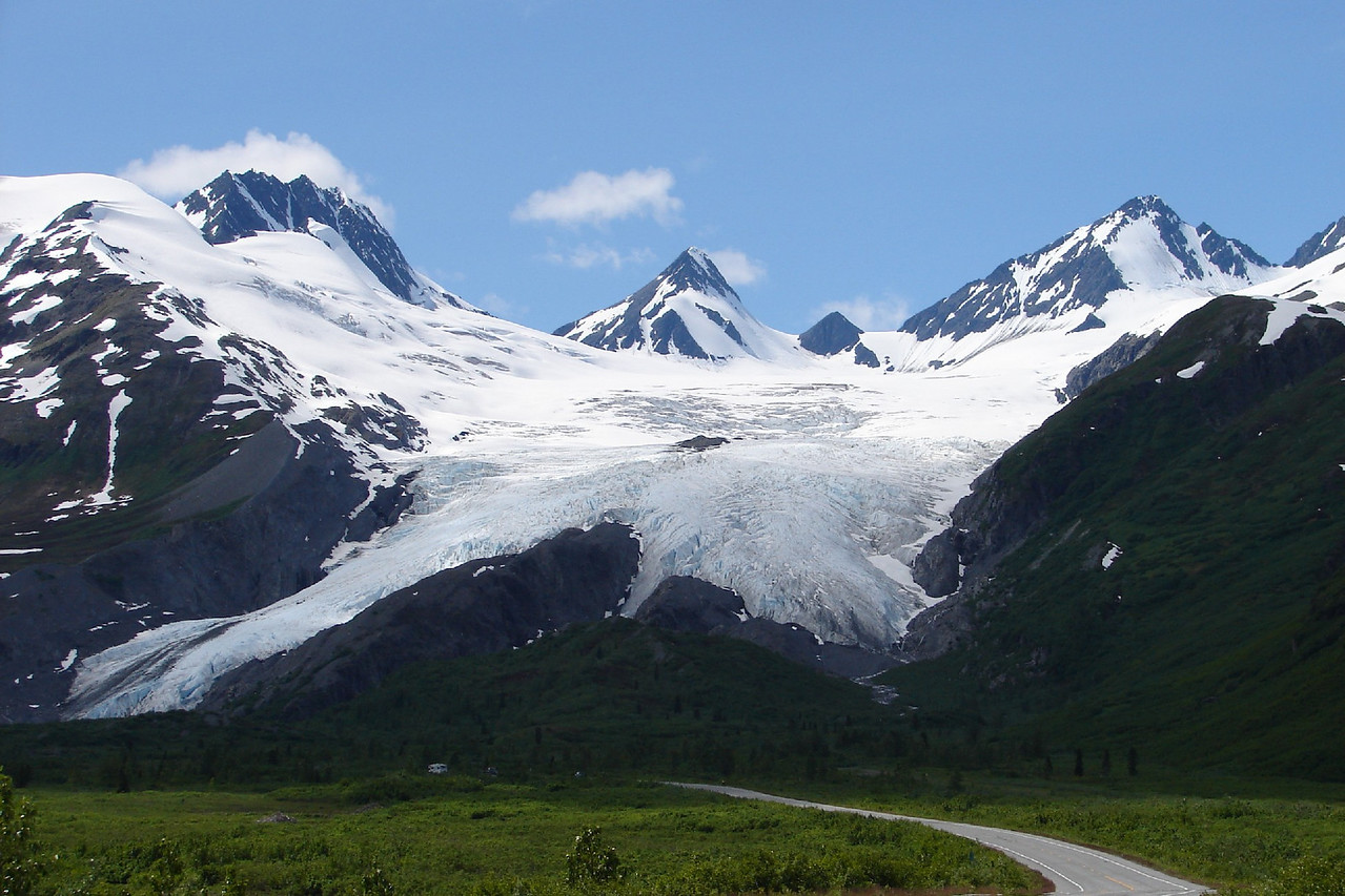 7/1/06 - Worthington Glacier on the Richardson Hwy. near Valdez.  Another popular subject for this gallery.