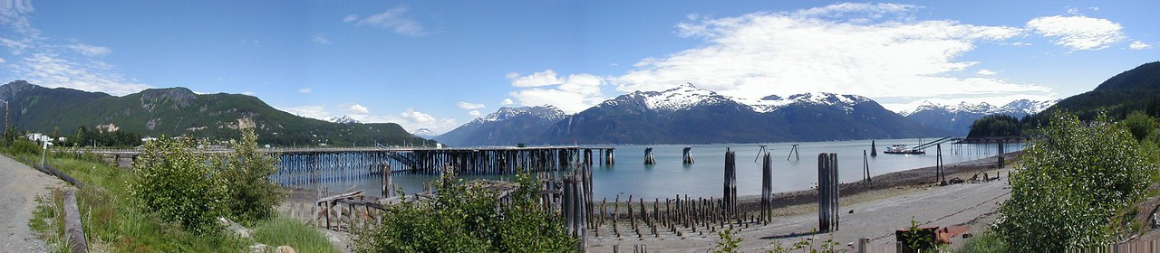The waterfront at Haines, Alaska.