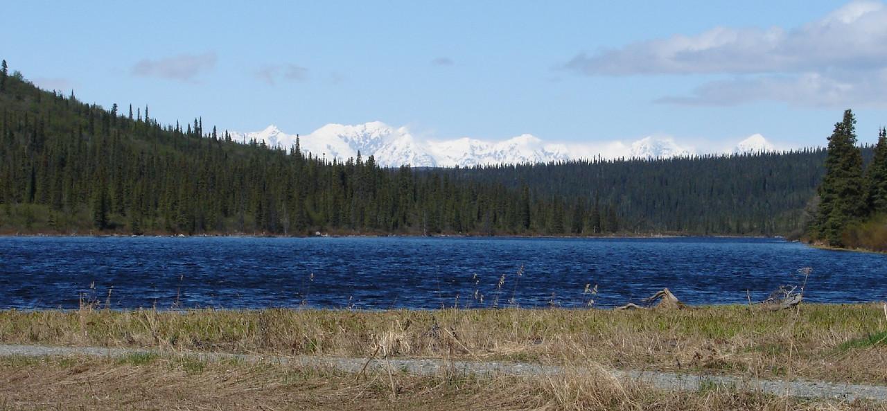 Meiers Lake, beside Meiers Lake Roadhouse, around Mile 171 of the Richardson Hwy.