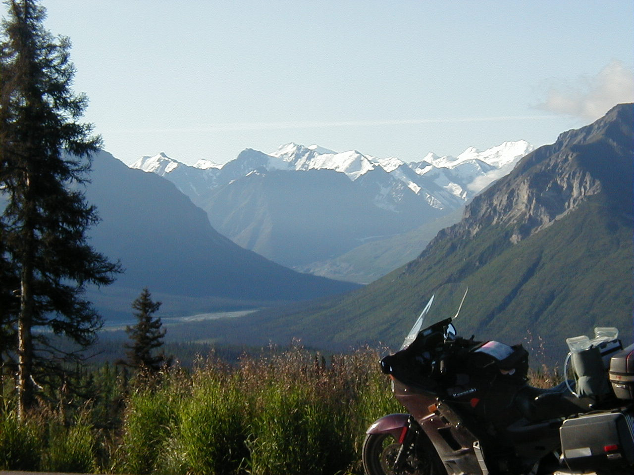 The valley of the South Fork of the Matanuska River - seen from Mile 116 of the Glenn Hwy.