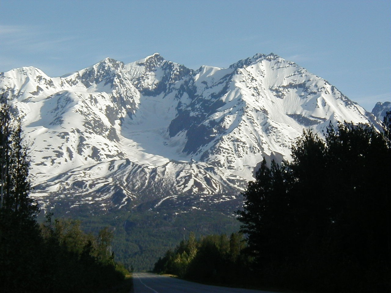 7/4/03 - Mt. Billy Mitchell, seen along the southbound Richardson Hwy., headed to Valdez.