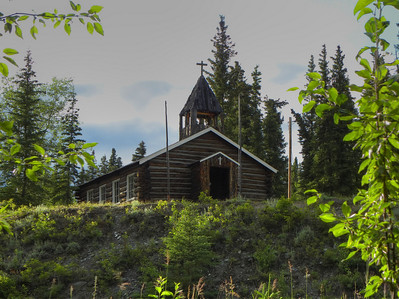 "Copper Center,  Alaska - The ""Chapel on the Hill"", built in the '30's, if I remember the history of the area correctly."