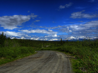 June 18, 2011:  Looking southeast toward the Nutzotin Mts beyond the end of the Nabesna Rd.