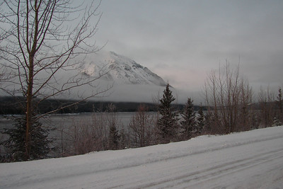 December 4, 2009, 4:27 PM: The Cassiar Highway shares the valley with Eddontenajon Lake, which stretches for a considerable distance along the highway.